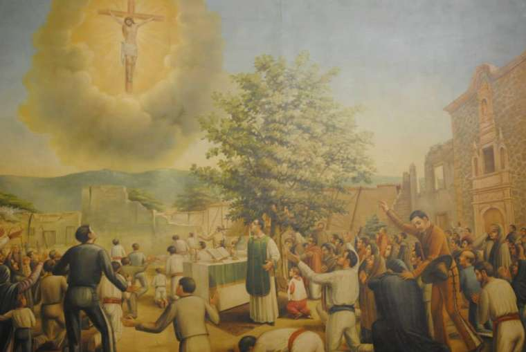 """Jesus appeared in the Sky at Mexico, before over 2000 witnesses: The """"Miracle of Ocotlán"""""""