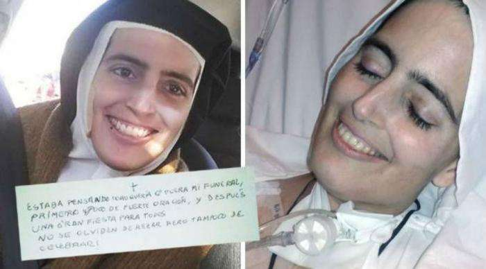 Rev. Sister Cecilia Maria who died with a Smiling face