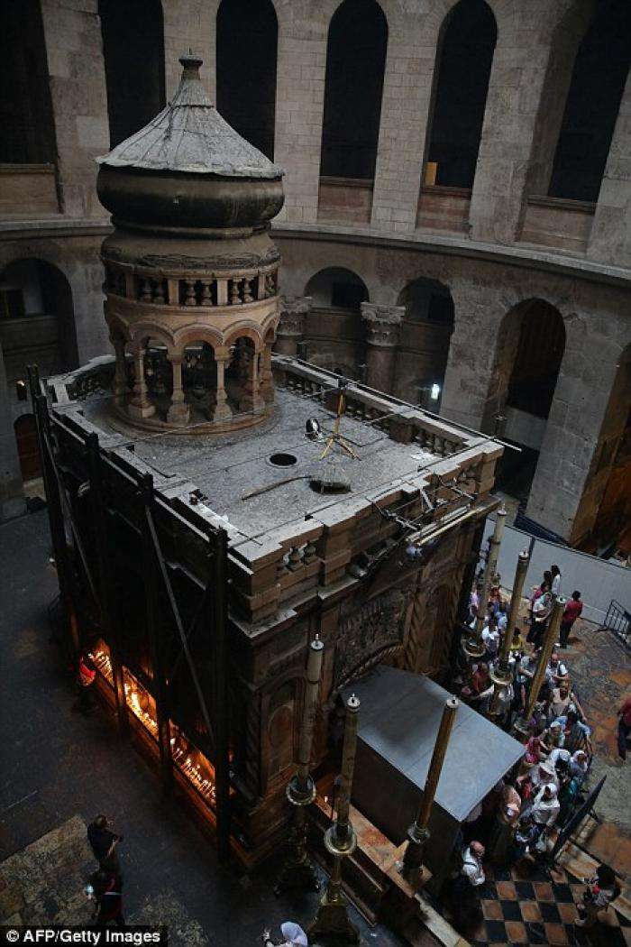 Burial slab of Jesus Christ uncovered for first time in five centuries