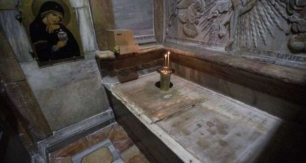 Surface of what is believed to be Jesus's tomb uncovered in Jerusalem