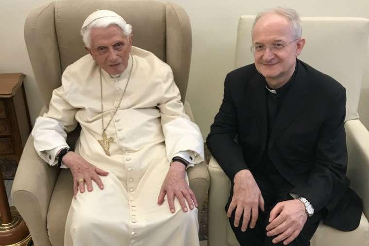 Amid JPII Institute controversy, Benedict XVI meets with recently dismissed professor