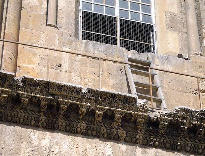 The Famous Immovable Ladder at the Holy Sepulchre, Why has nobody moved it in over 150 years?