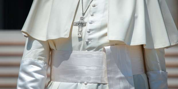 Why does Pope Francis wear a sash?