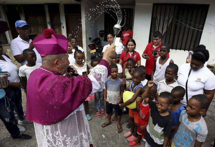 Colombian Bishop Uses Holy Water to 'Drive Out the Devil'