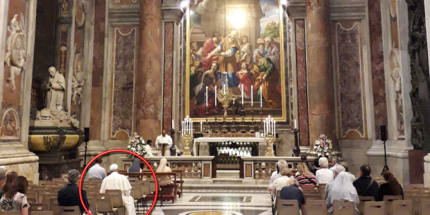 Did you see this?: Pope takes a seat in 6th row at Mass