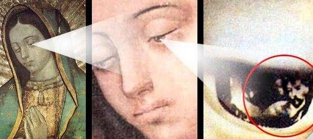 What's to be seen by looking into Our Lady of Guadalupe's eyes?