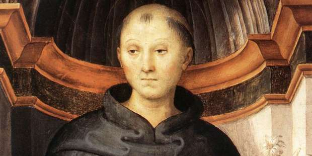 The patron saint of the souls in purgatory was visited by a friar suffering there
