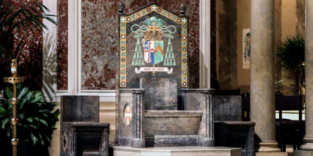 Why do bishops have a special chair?