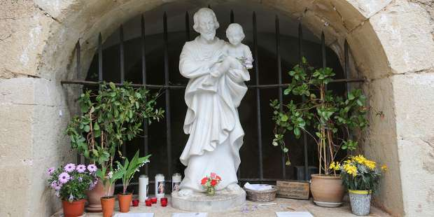 When St. Joseph appeared in France he left a miraculous spring of water