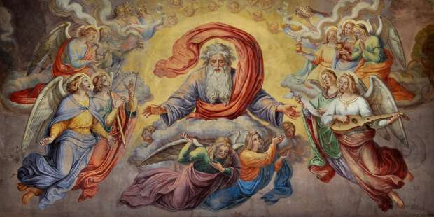 When were angels created by God?