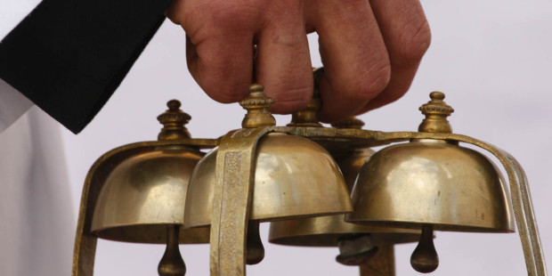 Why are bells sometimes used during Mass?