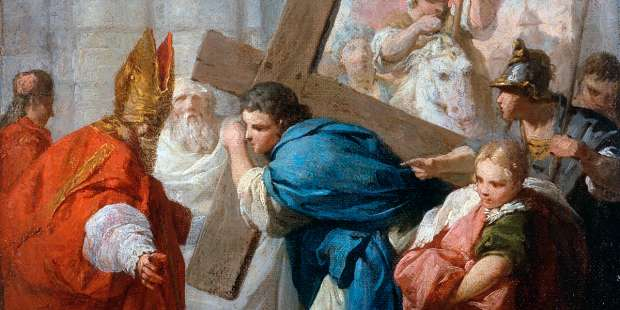 When an emperor tried to carry Jesus' cross with great pomp, this miracle happened