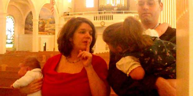 So how DO you make kids behave at Mass?