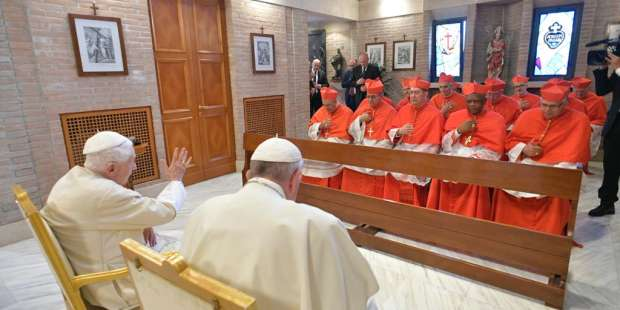 Benedict XVI reminds 13 new cardinals of importance of fidelity to Peter