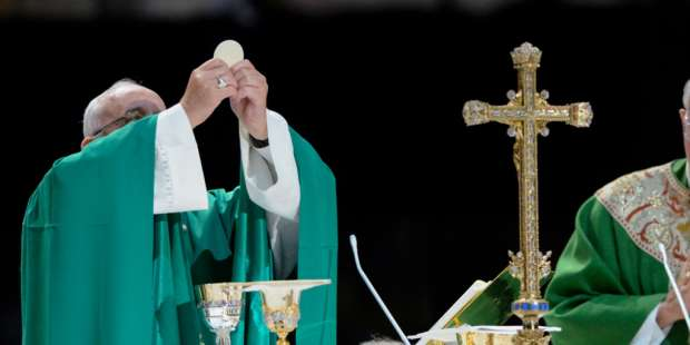 Eucharistic miracle beheld by Pope Francis?
