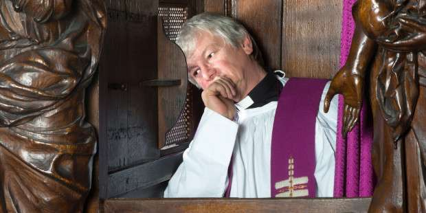 Can a non-Catholic go to confession to a priest?