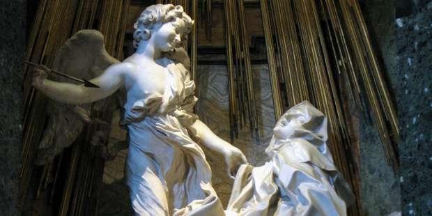 St. Teresa of Avila's heart was physically pierced by an arrow of God's love