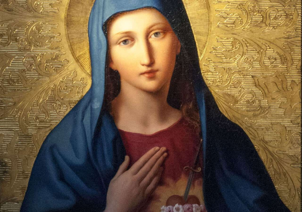 Ask the Blessed Virgin Mary for help to carry your heavy burdens