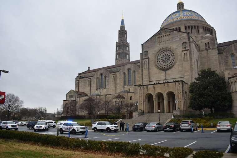 Two guards injured in attack at Washington basilica