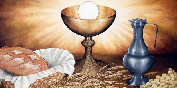 Why did Jesus choose bread and wine for the Eucharist?