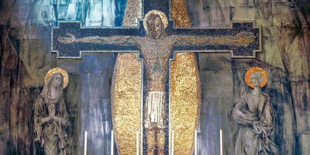 English Catholics struggle to save crucifixion mural in closed church