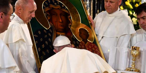 'May the Mother of God today help humanity to defeat the Coronavirus,' pope prays