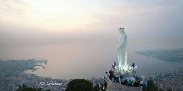 Lebanon's shrine to Mary is at a place where She waited for Her Son on His visit to Tyre and Sidon