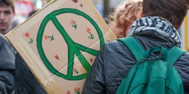 Prayer for peace during civil unrest