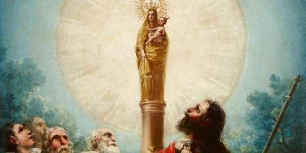 AND TODAY WE CELEBRATE… Saint of the Day: The Blessed Virgin Mary ~ Our Lady of the Pillar (MONDAY, OCTOBER 12)