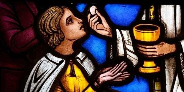 Meditate on God's presence after communion