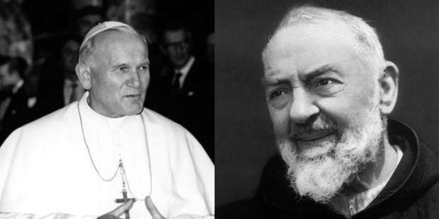 John Paul II's prayer to St. Padre Pio for strength during suffering