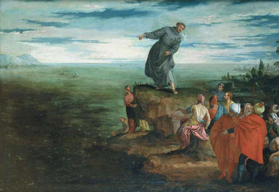 St Anthony was once annoyed that people didn't listen so he preached to the fish