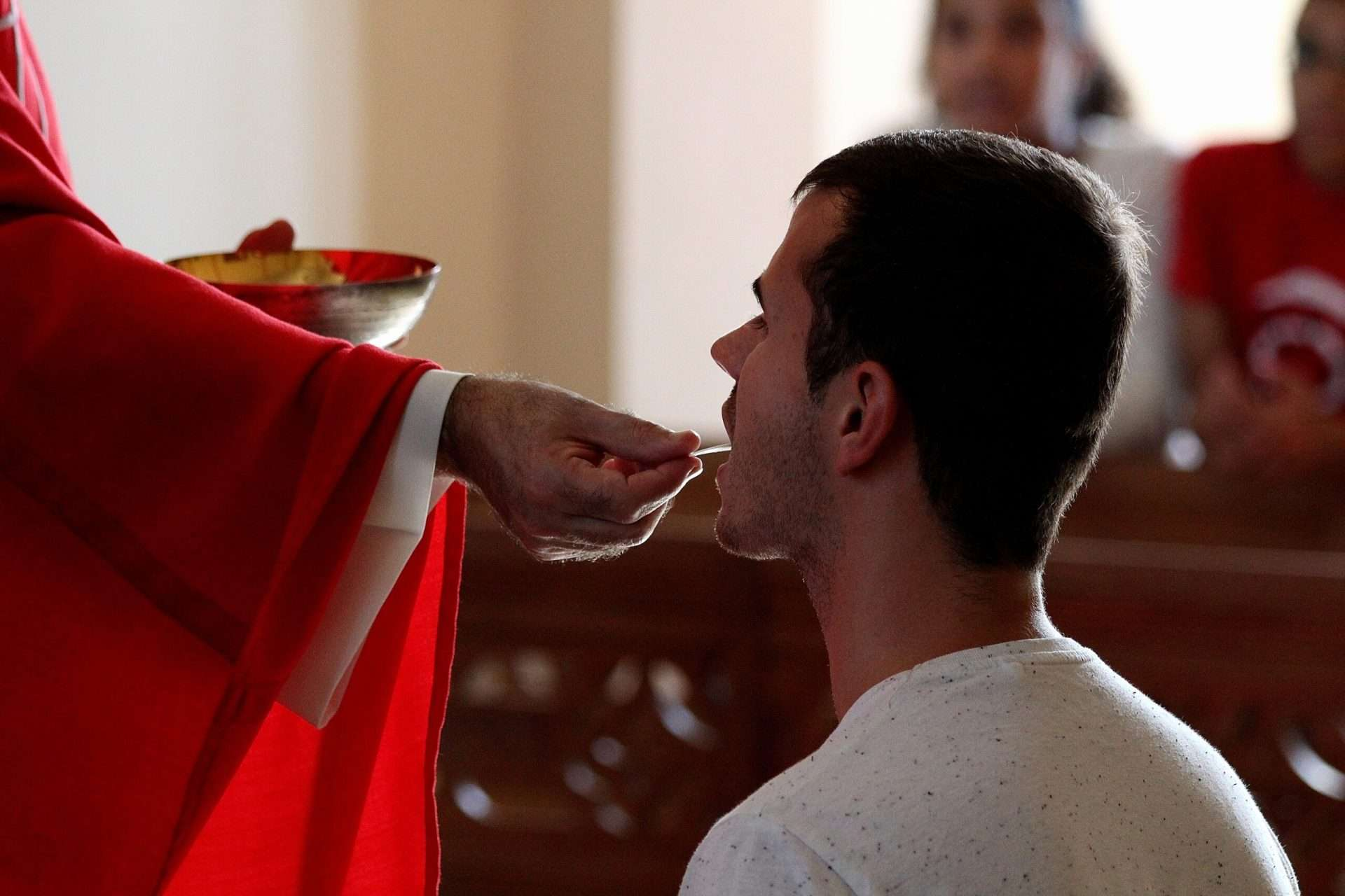 What do I do if I drop the Eucharist?