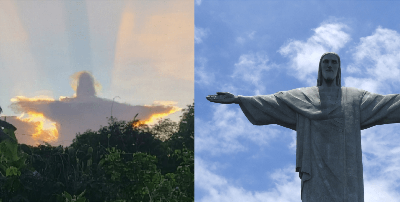 A photographer captured what looks like Christ the Redeemer appearing in the clouds